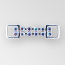 2 inch 2 row Crystal AB Silver Rhinestone Connector, ss18