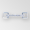 2 inch 1 row Crystal Silver Rhinestone Connector, ss18