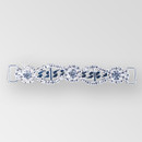 4 inch Reinforced Crystal Silver Rhinestone Connector, ss12, ss40