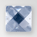 30mm Acrylic Square Sew-On Stone, Crystal color