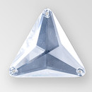 16mm Acrylic Triangle Sew-On Stone, Crystal color