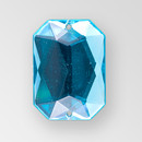 18x13mm Acrylic Octagon Sew-On Stone, Blue Zircon color