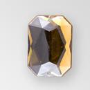 21x15mm Acrylic Octagon Sew-On Stone, Smoke Topaz color