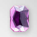 21x15mm Acrylic Octagon Sew-On Stone, Amethyst color