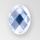 30x21mm Acrylic Oval Sew-On Stone, Crystal color