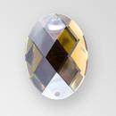 30x21mm Acrylic Oval Sew-On Stone, Smoke Topaz color