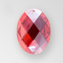 30x21mm Acrylic Oval Sew-On Stone, Light Siam color