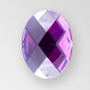 30x21mm Acrylic Oval Sew-On Stone, Amethyst color