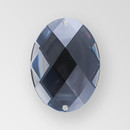 40x30mm Acrylic Oval Sew-On Stone, Black Diamond color