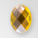 40x30mm Acrylic Oval Sew-On Stone, Topaz color
