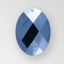 40x30mm Acrylic Oval Sew-On Stone, Hematite color