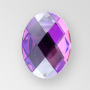 40x30mm Acrylic Oval Sew-On Stone, Vitrail Medium color