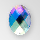 40x30mm Acrylic Oval Sew-On Stone, Crystal AB color