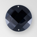 18mm Acrylic Round Sew-On Stone, Jet color