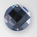 18mm Acrylic Round Sew-On Stone, Black Diamond color