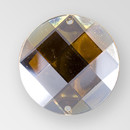18mm Acrylic Round Sew-On Stone, Smoke Topaz color