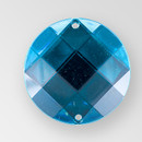 22mm Acrylic Round Sew-On Stone, Blue Zircon color