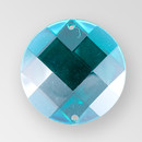 30mm Acrylic Round Sew-On Stone, Emerald color