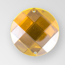 30mm Acrylic Round Sew-On Stone, Topaz color