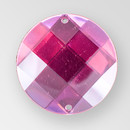30mm Acrylic Round Sew-On Stone, Rose color