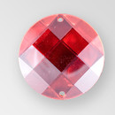 30mm Acrylic Round Sew-On Stone, Light Siam color