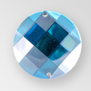 30mm Acrylic Round Sew-On Stone, Vitrail Medium color