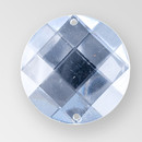 35mm Acrylic Round Sew-On Stone, Crystal color