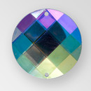 35mm Acrylic Round Sew-On Stone, Crystal AB color