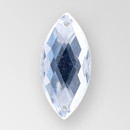 20x9mm Acrylic Navette Sew-On Stone, Crystal color
