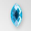 20x9mm Acrylic Navette Sew-On Stone, Blue Zircon color