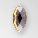 20x9mm Acrylic Navette Sew-On Stone, Smoke Topaz color