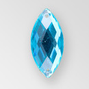 23x10mm Acrylic Navette Sew-On Stone, Blue Zircon color