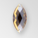 23x10mm Acrylic Navette Sew-On Stone, Smoke Topaz color