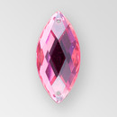 23x10mm Acrylic Navette Sew-On Stone, Rose color