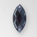 26x12mm Acrylic Navette Sew-On Stone, Black Diamond color