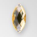 26x12mm Acrylic Navette Sew-On Stone, Light Colorado Topaz color
