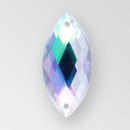 26x12mm Acrylic Navette Sew-On Stone, Crystal AB color