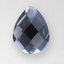 30x20mm Acrylic Pearshape Sew-On Stone, Black Diamond color