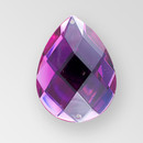 30x20mm Acrylic Pearshape Sew-On Stone, Amethyst color