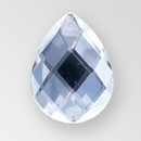 40x30mm Acrylic Pearshape Sew-On Stone, Crystal color