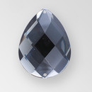 40x30mm Acrylic Pearshape Sew-On Stone, Black Diamond color
