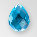 40x30mm Acrylic Pearshape Sew-On Stone, Blue Zircon color