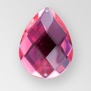 40x30mm Acrylic Pearshape Sew-On Stone, Rose color