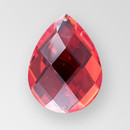 40x30mm Acrylic Pearshape Sew-On Stone, Light Siam color