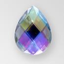 40x30mm Acrylic Pearshape Sew-On Stone, Crystal AB color