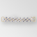 4.25 inch Rhinestone Connector in Crystal Gold, ss29
