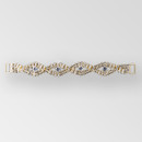 7 inches Braided Rhinestone Connector in Crystal Gold, ss12, ss34