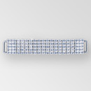 4 inch 5 row Rhinestone Connector in Crystal Silver, ss14.5