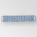 4 inch 5 row Rhinestone Connector in Crystal AB Silver, ss14.5