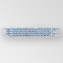 4 inch 4 row Rhinestone Connector in Crystal AB Silver, ss14.5